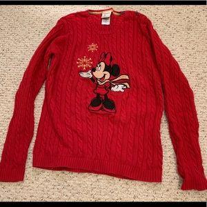 Women's LIKE NEW Medium Minnie Holiday  sweater
